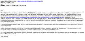 Charity Commission advice on Dead Names