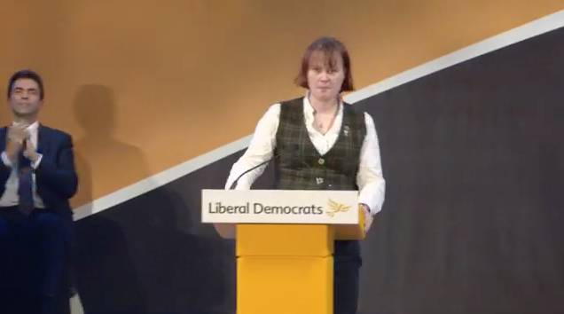 Zoe at the Spring 2018 Liberal Democrat rally